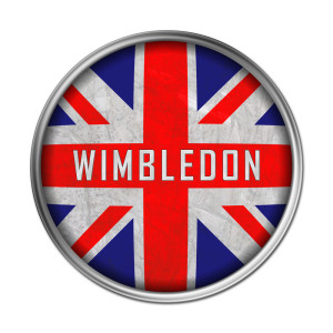 Wimbledon logo and Union Jack